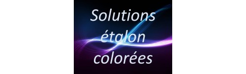 Solutions étalon colorées