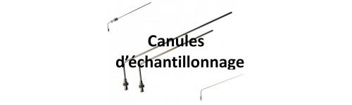 Canules d'échantillonnage